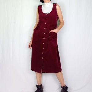 90's corduroy pinafore dress